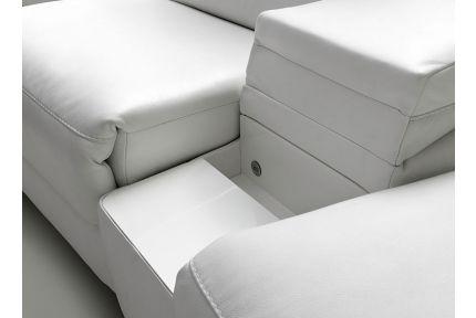 ROM Levana sofa with white storage space shelf