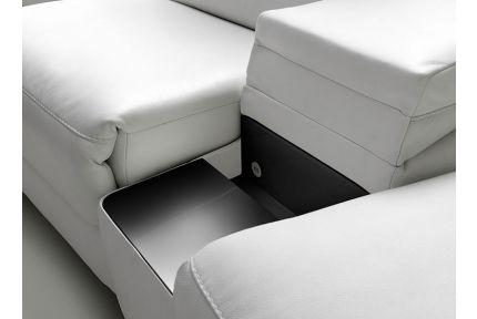 ROM Levana sofa with black storage space shelf