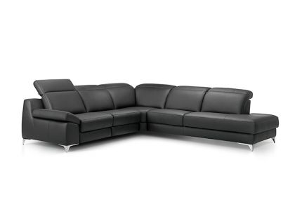 ROM Levana large leather recliner sofa