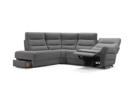 ROM Montfort sofa recliner, adjustable headrests