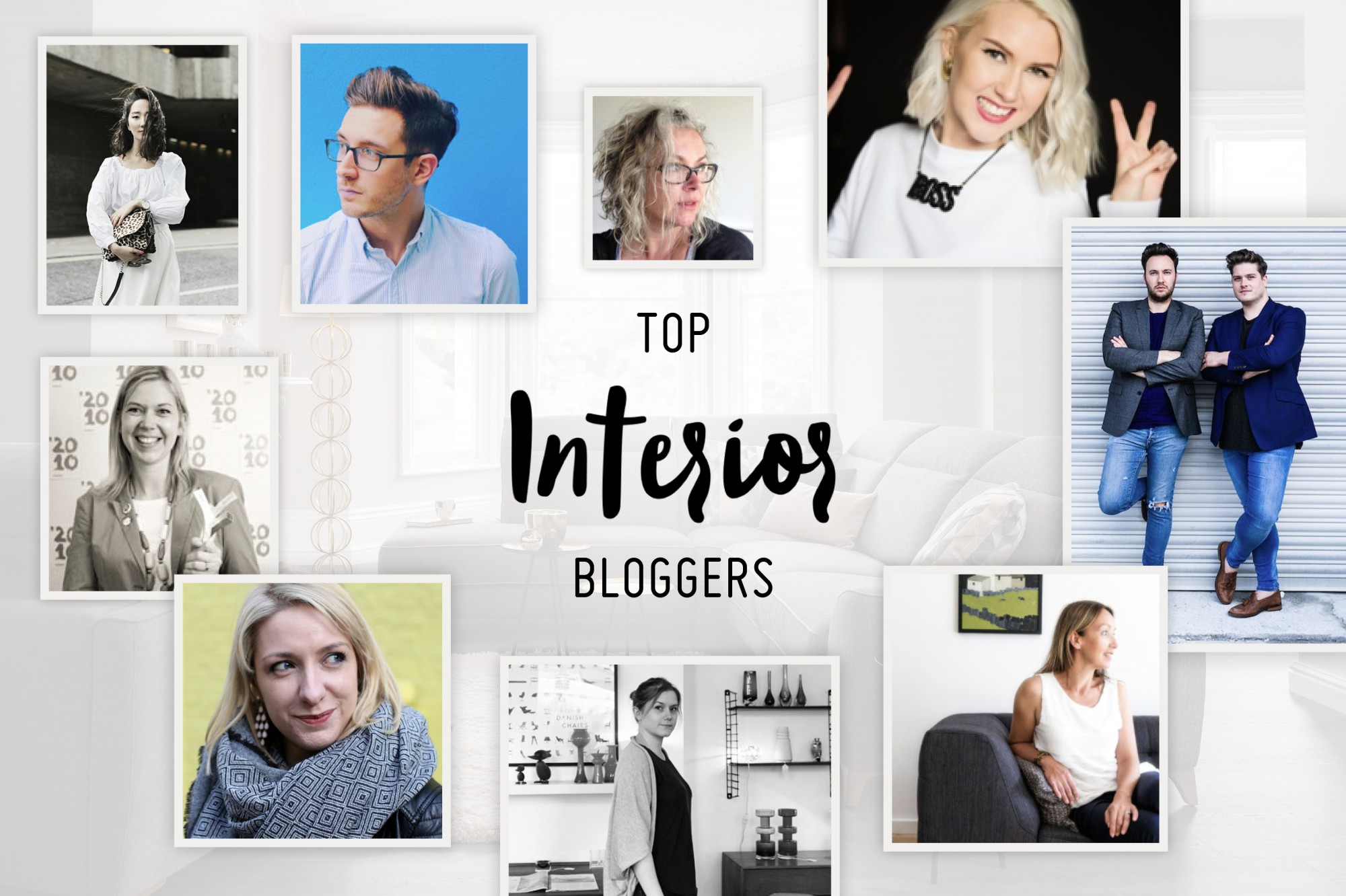 Our top 10 interior bloggers for Interieur bloggers